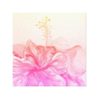Impressão Em Tela Hibiscus da aguarela