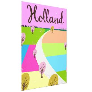 Impressão Em Tela Holland coloca o poster de viagens