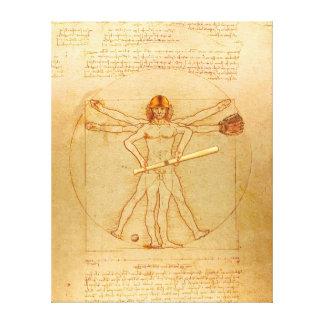 Impressão Em Tela Homem de Leonardo Vitruvian como o jogador de