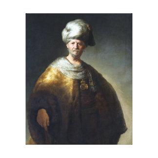 Impressão Em Tela Homem de Rembrandt no traje oriental