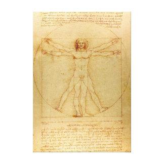 Impressão Em Tela Homem icónico de Leonardo da Vinci Vetruvian