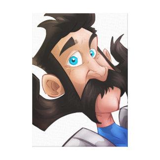 Impressão Em Tela Homem pateta com um grande bigode