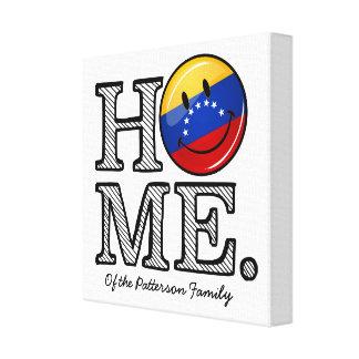 Impressão Em Tela Housewarming de sorriso da bandeira de Venezualan