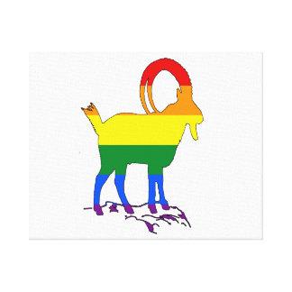 Impressão Em Tela Íbex do arco-íris