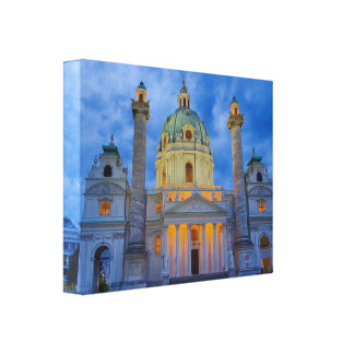 Impressão Em Tela Igreja do santo Charles, Viena