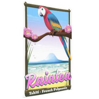 Impressão Em Tela Ilhas de sociedade de Raiatea, Tahiti, Polinésia