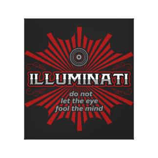 Impressão Em Tela Illuminati não deixa o olho enganar a mente