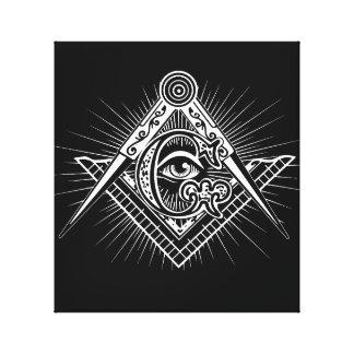 Impressão Em Tela Illuminati todo o símbolo de vista do Freemason do
