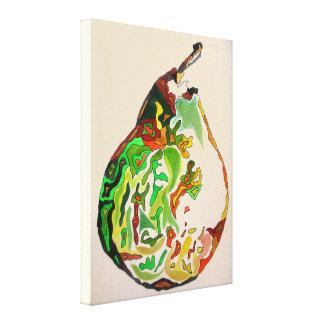 Impressão Em Tela Ilustração da arte do watercolour da fruta da pera