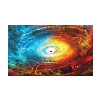 Impressão Em Tela Ilustração Supermassive do buraco negro