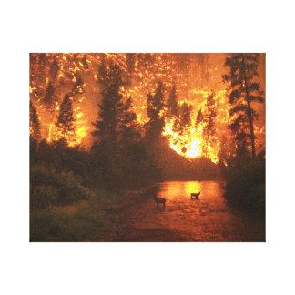 Impressão Em Tela Incêndio florestal do parque nacional do