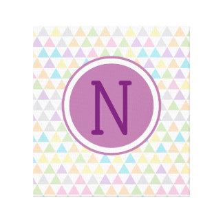 Impressão Em Tela Inicial Pastel do costume dos triângulos do bebê