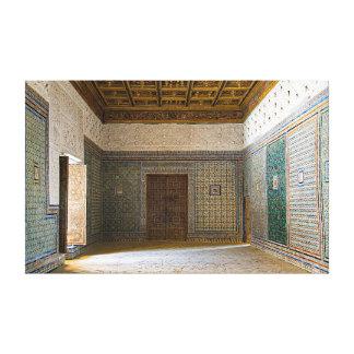"""Impressão Em Tela Interior da """"casa de Pilate""""."""