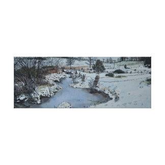 Impressão Em Tela Inverno de Michigan