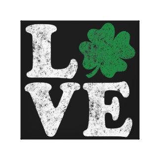 Impressão Em Tela Irlandês do trevo do AMOR do Dia de São Patrício