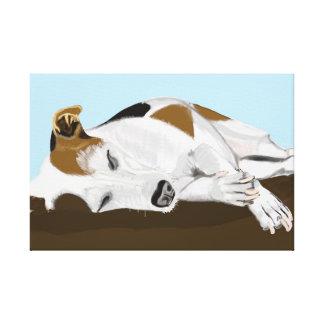 Impressão Em Tela Jack de sono Russell Terrier