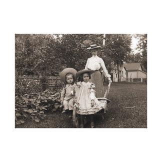 Impressão Em Tela Jardim 1890 de jardinagem da herança das filhas da