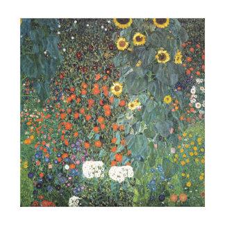 Impressão Em Tela Jardim da fazenda de Gustavo Klimt com girassóis