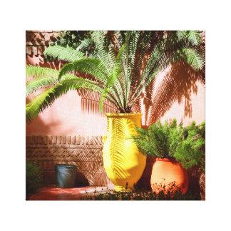 Impressão Em Tela Jardim marroquino - samambaia no pote amarelo