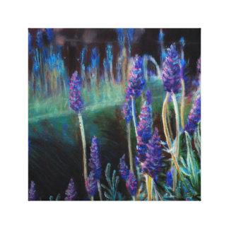 Impressão Em Tela Jardim pela lagoa no crepúsculo