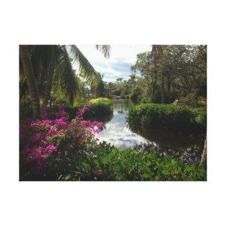 Impressão Em Tela Jardim tropical