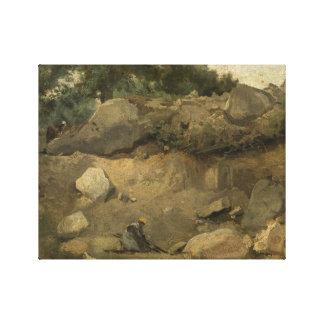 Impressão Em Tela Jean-Baptiste-Camilo Corot - mina de pedra