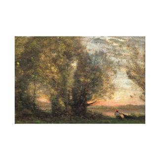 Impressão Em Tela Jean-Baptiste-Camilo Corot - pescador