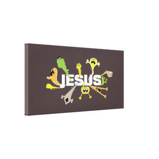 Impressão Em Tela Jesus assustador (branco)