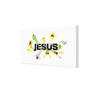 Impressão Em Tela Jesus assustador (preto)