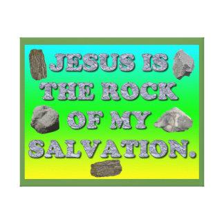Impressão Em Tela Jesus é a rocha de meu Salvation.