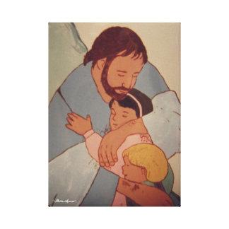 IMPRESSÃO EM TELA JESUS E AS CRIANÇAS