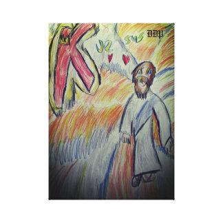 Impressão Em Tela Jesus é somente o rei 2