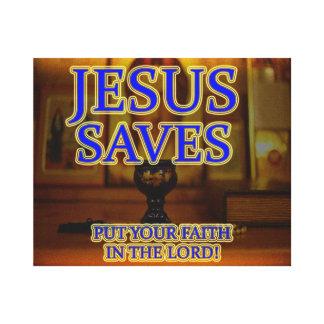 Impressão Em Tela Jesus salvar - pnha sua fé em Jesus