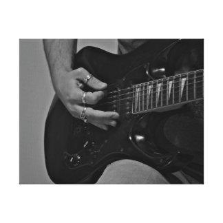 Impressão Em Tela Jogando a guitarra