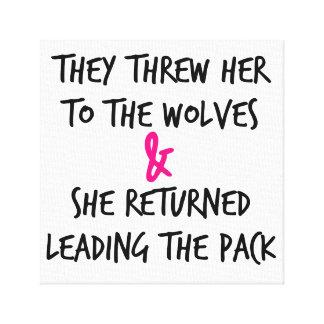Impressão Em Tela Jogaram-na para o poster dos lobos