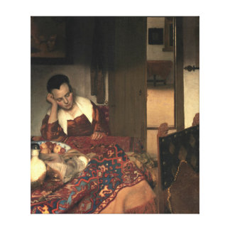 Impressão Em Tela Johannes Vermeer uma empregada doméstica