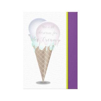 Impressão Em Tela Jorra todo o gritar para o sorvete