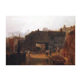 Impressão Em Tela Joseph Mallord William Turner Saltash com balsa