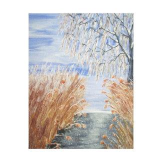 Impressão Em Tela Juncos no Riverbank No.1 do Watercolour