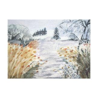 Impressão Em Tela Juncos no Riverbank No.2 do Watercolour