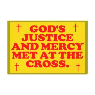 Impressão Em Tela Justiça e o compaixão do deus encontrados na cruz