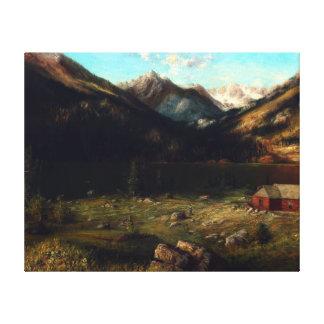 Impressão Em Tela Karl Heffner Mountainscape com uma casa por um