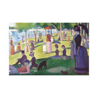 Impressão Em Tela La icónico colorido Jatte grandioso de Georges