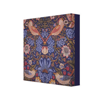 Impressão Em Tela Ladrão da morango de William Morris do vintage