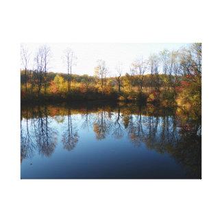 Impressão Em Tela Lago autumn