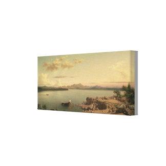 Impressão Em Tela Lago George vintage por Martin Johnson Heade