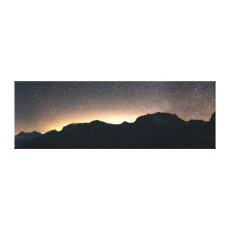 Impressão Em Tela Lago Thun, suiça & céu estrelado