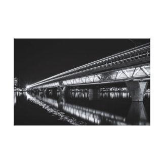 Impressão Em Tela Lago town de Tempe na noite