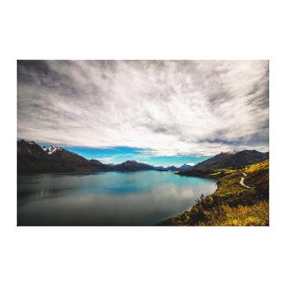 Impressão Em Tela Lago Wakatipu do blefe de Bennetts