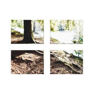 Impressão Em Tela Lagoa da floresta